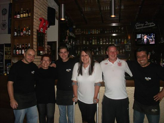 Glory Days Sports Bar and Grill FBI: Us and the staff :)
