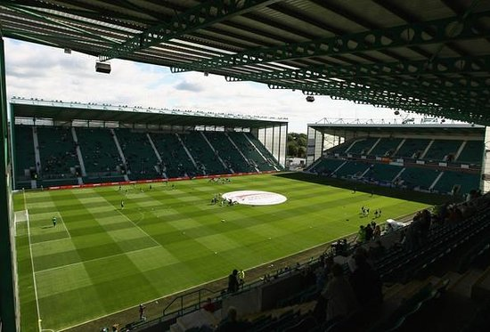 Easter Road Stadium: Inside the amazing stadium - not a bad seat ! Great atmosphere