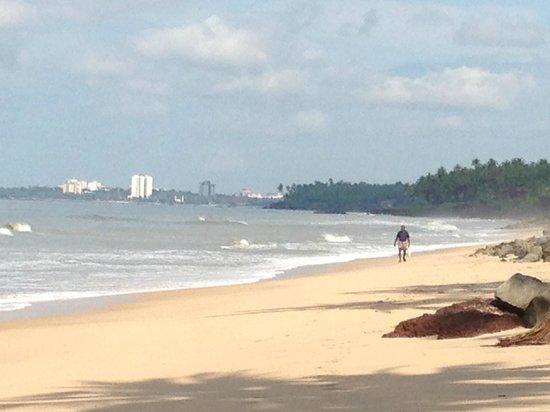 Ocean Hues Beach House: beach view towards Kannur town