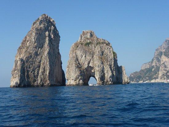 Positano Boats: Arch, Capri