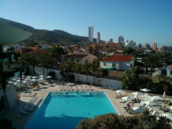 Hotel Deloix Aqua Center: View from room (block 2, 2nd floor)