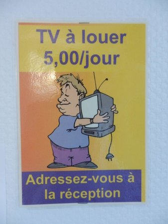 La Fontaine: TV to rent, only 5 Euros