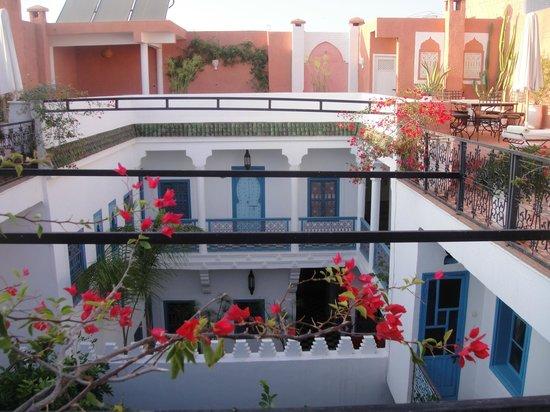 Riad Chamali: vue interieure du riad