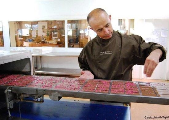 Musee du Chocolat Bovetti : Valter  Bovetti en production