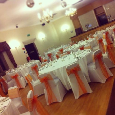 Boringdon Hall Hotel: The room looked stunning for our wedding breakfast. - Elizabethan suite