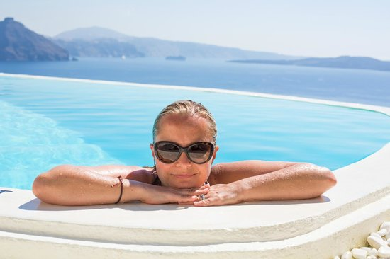 Mystique Luxury Collection Hotel: The pool with a view