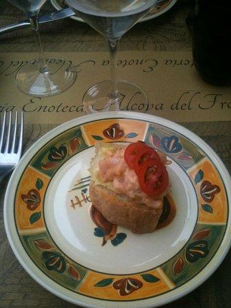 Alcova Del Frate: in attesa di iniziare il pranzo...