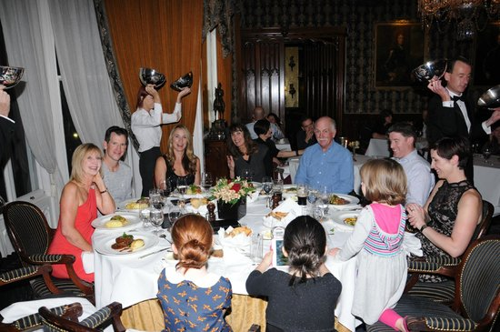 Dromoland Castle Hotel: the Glynn and Ortiz Family enjoying a beautiful meal in the Dining room