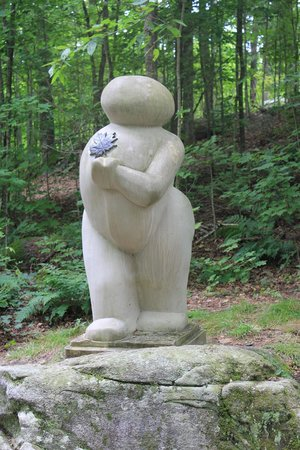 Haliburton, Canada: One of the more whimsical sculptures in the Forest