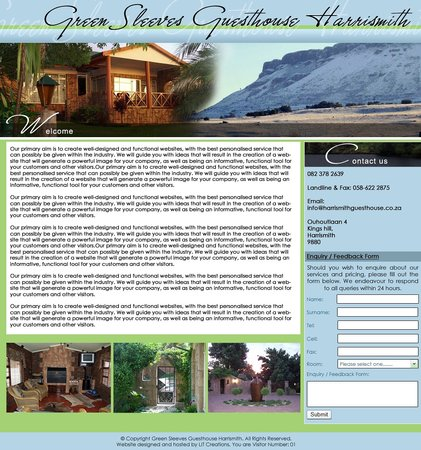 Greensleeves Guesthouse Harrismith : web harrismithguesthouse.co.za