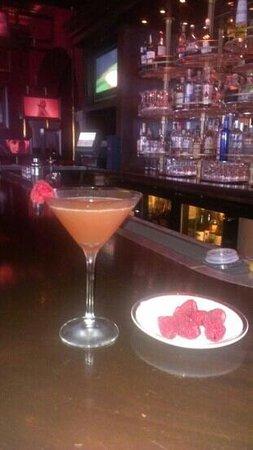 Chops Steakhouse: raspberry jolly rancher martini YUMMM