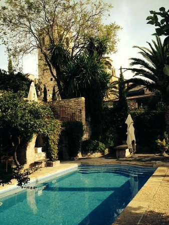 Palacio Chaves Hotel: pool on medieval grounds