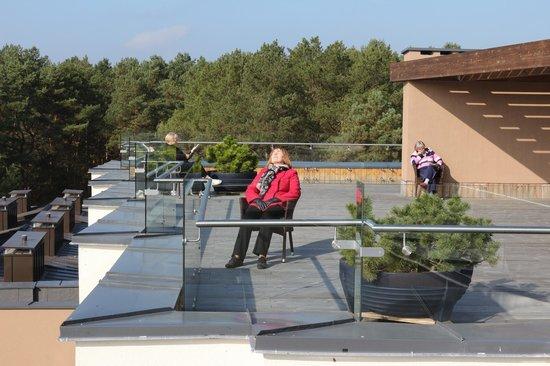 Medical SPA Eglės Sanatorija Birštonas: Солнечная терраса на крыше