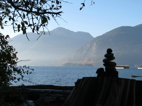 Porteau Cove Provincial Park : the view from our campsite