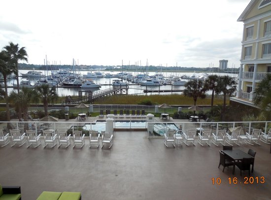 Courtyard Charleston Waterfront: View from our waterfront room on 2nd floor