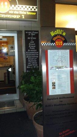 Rolli's Steakhouse Oerlikon: Eingangberreich