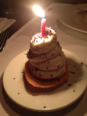 Harry Waugh Dessert Room at Bern's Steak House: Complimentary Anniversary Desert