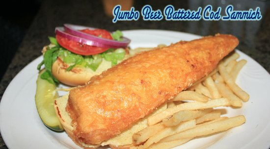 Chillin the Most: Jumbo Beer Battered Sammich