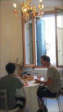 3C B&B: Enjoying a wonderful breakfast in our room.