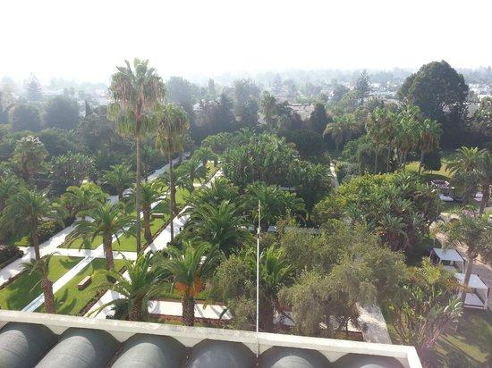 Sofitel Rabat Jardin des Roses : vue arrière sur le jardin