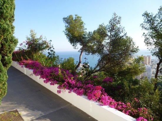Parador de Malaga Gibralfaro: vue sur la baie de Malaga