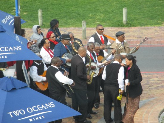 Ocean Basket: Band from our window
