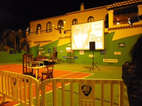 Pikes Ibiza: A View of the start of a presentation