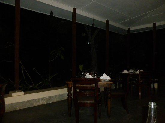 La Plaine St. Andre : Dining out on the rear patio of the restaurant