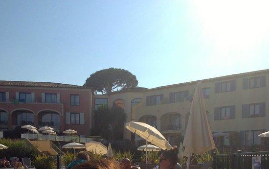 Hotel Les Jardins de Sainte-Maxime : vue de la piscine