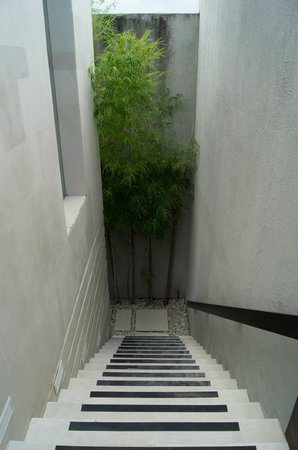 eqUILIBRIA SEMINYAK: Stairs down to bed/bathroom
