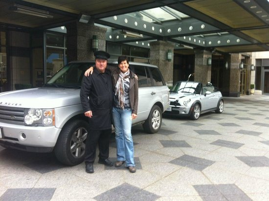 Park Hyatt Toronto: With Cameron - valet - and about to leave in our caravan of silver cars!