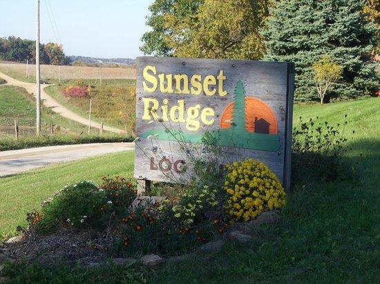 Sunset Ridge Log Cabins : our sign