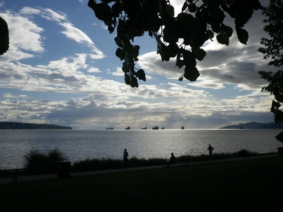 Sylvia Hotel: view of English Bay