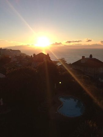 The Royal Hotel: sunset over Ventnor