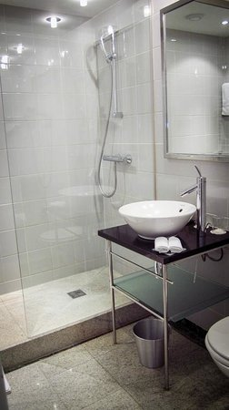 K+K Palais Hotel: lovely shower with adequate glass