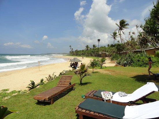 Club Koggala Village : plage de l'hôtel