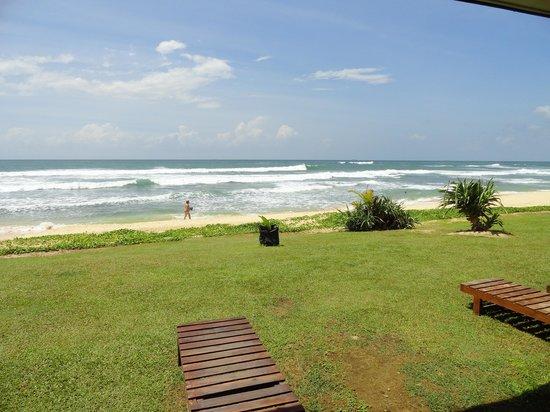 Club Koggala Village : vue depuis notre terrasse (chambre 626)