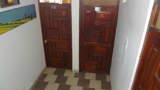 Ecopackers Machupicchu: Uno de los pasillos, donde se encuentran las habitaciones