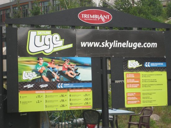 Skyline Luge Mont-Tremblant: Prices and info
