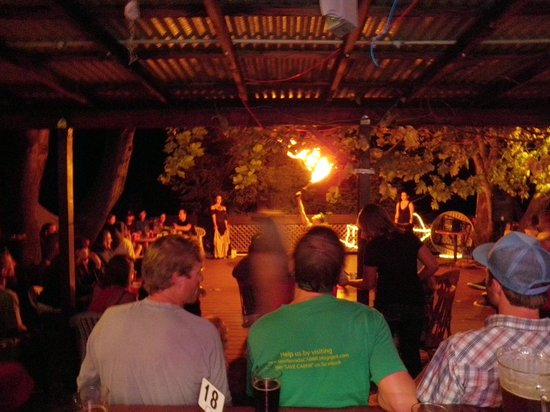 Marco's Cafe: FireDancers heat up the night and wow the crowd