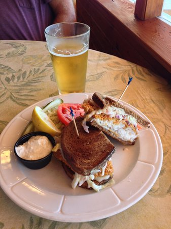 Sunset Grill Incorporated: Grouper Reuben...yum-o!