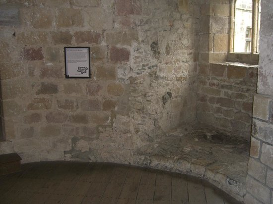 Skipton Castle: The Muniment Room, with details on the wall