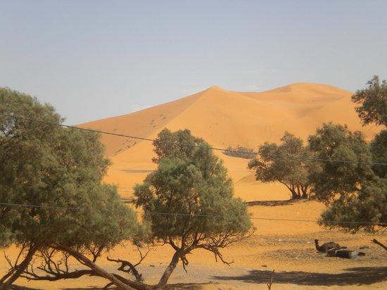 Kasbah Le: Blick von der Terasse