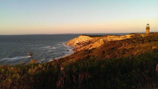 Gay Head Light  (Aquinnah Light): Cliffs and lighthouse