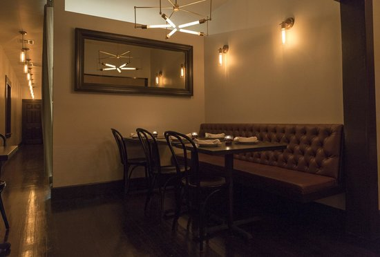 The Little Beast : Private dining alcove at Little Beast