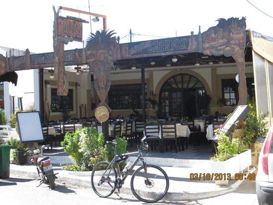 Roulas Restaurant: Best place to eat in Lardos