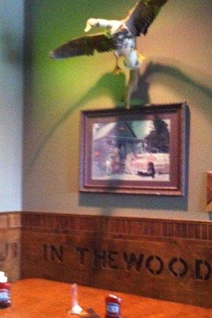 Corner Pub in the Woods: Corner booth