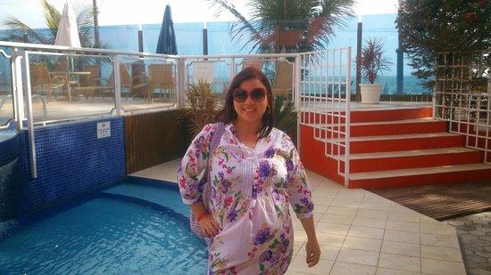 Pousada Vila do Coral : Na parte das piscinas...