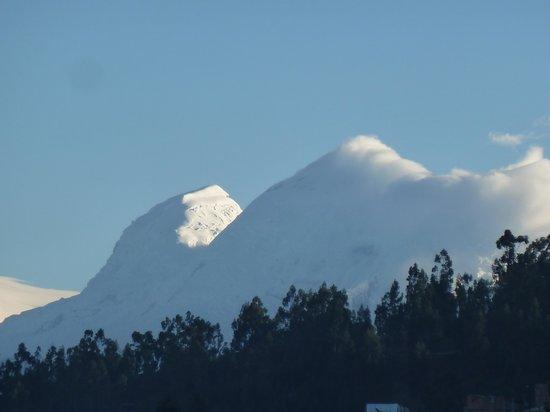 Morales Guesthouse: vista su Huascaran al mattino