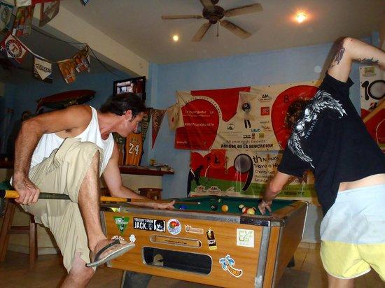 Surf Club Sports Bar: Getting silly playing pool